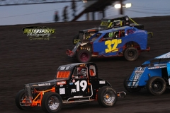 Mod Lite action at Boone Speedway on Saturday, April 13, 2013.