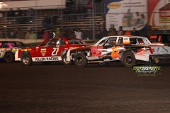 IMCA Hobby Stock action at Boone Speedway on Saturday, April 13, 2013.