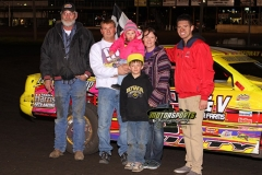 Damon Murty took top honors in the IMCA Stock Car division at Boone Speedway on Saturday, April 13, 2013.