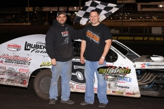 Todd Shute was the winner in the IMCA Modifieds on Saturday, April 13, 2013, at Boone Speedway.
