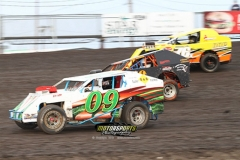 Mod Lite action at Boone Speedway on Saturday, April 20, 2013.