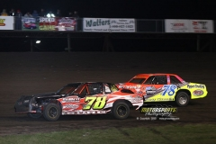 Hobby Stock action at Boone Speedway on Saturday, April 20, 2013.