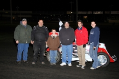 Charlie Brown took the checkers in the MADCRA Dwarf car division at Boone Speedway on Saturday, April 23, 2011.