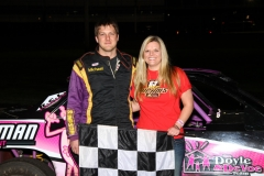 The IMCA stock cars saw Michael Jeannette bring home the checkers at Boone Speedway on Saturday, April 23, 2011.