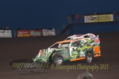 IMCA SportMod action at Boone Speedway on Saturday, April 25, 2015.