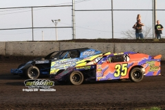 Northern SportMod action at Boone Speedway on Saturday, April 20, 2013.