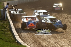 Modified action at Boone Speedway on Saturday, April 20, 2013.