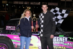 Austin Luellen led the field to the finish line in the IMCA Hobby Stock division at Boone Speedway on Saturday, April 30, 2011.