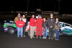 James May in the MADCRA Dwarf Car division won the feature on Saturday, April 30, 2011, at Boone Speedway.