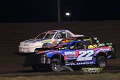 IMCA Stock Cars at the 2013 Frostbuster on April 6, 2013, at Boone Speedway.