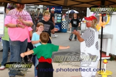 Balloons for the kids were a part of the fun at Boone Speedway on Saturday, August 10, 2013.