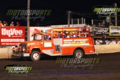 A trip on the firetruck is always a treat for the Racing Rascals at Boone Speedway.