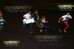 It was full throttle for the man-powered cardboard cars on Saturday, August 10, 2013, at Boone Speedway.
