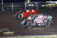 Mod Lite action at Boone Speedway on Saturday, August 10, 2013.