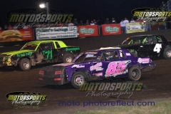 IMCA Hobby Stock action at Boone Speedway on Saturday, August 10, 2013.