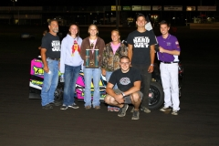 The Boone Speedway Mod Lite division saw Colby Oberembt make a trip to winner's circle on Saturday, August 13, 2011.