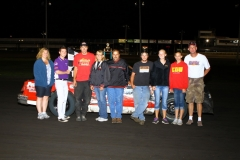 Taking top spot in the IMCA Hobby Stock division was Aaron Rudolph on Satuday, August 13, 2011, at Boone Speedway.