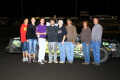 IMCA Hobby Stock driver Michael Murphy took the checkers at Boone Speedway on Saturday, August 13, 2011.