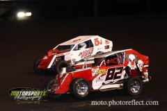 Mod Lite action at Boone Speedway on Saturday, August 17, 2013.