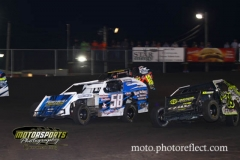 IMCA Modified action at Boone Speedway on Saturday, August 17, 2013.