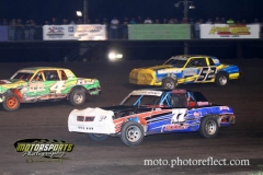 IMCA Hobby Stock action at Boone Speedway on Saturday, August 17, 2013.
