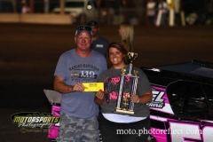 Tara Longnecker was crowned Queen of the Hill at Boone Speedway on Saturday, August 17, 2013.