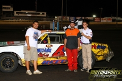 The IMCA Hobby Stocks saw Curt Reed in Victory Lane at Boone Speedway on Saturday, August 20, 2011.