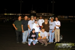 Jeff Stensland led the Mod Lites to the finish on Saturday, August 20, 2011, at Boone Speedway.