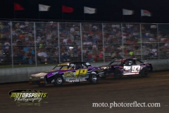 IMCA Stock Car action at Boone Speedway on Saturday, August 24, 2013.