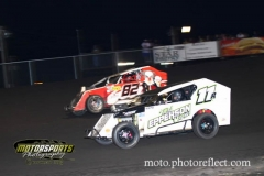 Mod Lite action at Boone Speedway on Saturday, August 24, 2013.