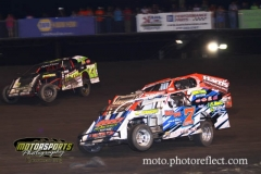 IMCA Modified action at Boone Speedway on Saturday, August 24, 2013.