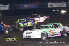 IMCA Hobby Stock action at Boone Speedway on Saturday, August 24, 2013.