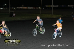 It was a sprint to the finish during the kids bike races at Boone Speedway on Saturday, August 24, 2013.