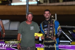 Jay Schmidt was King of the Hill in the IMCA Stock Cars at Boone Speedway on Saturday, August 24, 2013.