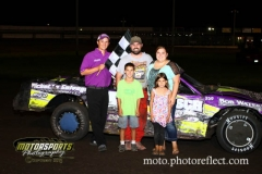 Jerry Gifford scored his second win of the season at Boone Speedway in his IMCA Stock Car on Saturday, August 24, 2013.
