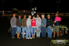 Trent Murphy took top honors in the IMCA Stock Car feature event at Boone Speedway on Saturday, August 27, 2011.