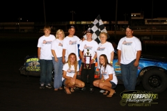 Cory Tasler took home the checkers on Saturday, August 6, 2011, in the IMCA Hobby Stock division at Boone Speedway.