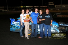 Eric Elliott came out on top in the IMCA Northern SportMods at Boone Speedway on Saturday, August 6, 2011.
