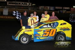 Boone Speedway's Mod Lite division welcomed Joel Huggins to victory lane on Saturday, August 6, 2011.