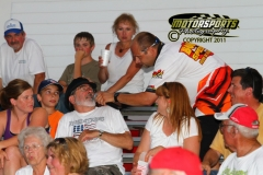 Fan interview at Boone Speedway on Saturday, July 16, 2011.