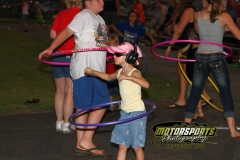 Hula Hoop contest at Boone Speedway on Saturday, July 16, 2011.