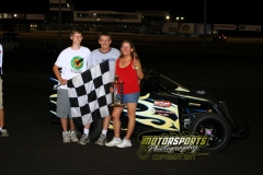 Ed Zehm was the winner in the Mod LIte feature at Boone Speedway on Saturday, July 16, 2011.