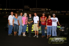 Michael Murphy returned to the IMCA Hobby Stock victory lane on Saturday, July 16, 2011, at Boone Speedway.