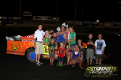 Scott Davis took the checkers in the IMCA Northern SportMods on Saturday, July 16, 2011, at Boone Speedway.