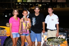 The IMCA Modifieds welcomed Jake Durbin to victory lane on Saturday, July 16, 2011, at Boone Speedway.