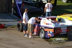 Prepping for a night of great racing action at Boone Speedway on Saturday, July 2, 2011.