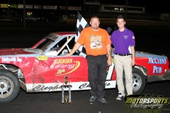 John Watson led the field to victory in the IMCA Hobby Stock division at Boone Speedway on Saturday, July 2, 2011.