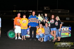 The checkers flew for Mike Vangenderen in his IMCA Modified at Boone Speedway on Saturday, July 2, 2011.