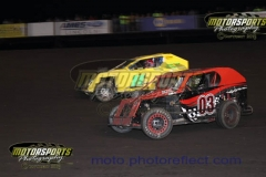 Mod Lite action at Boone Speedway on Saturday, July 20, 2013.