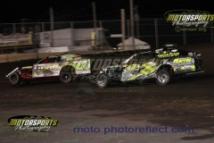 IMCA Modified action at Boone Speedway on Saturday, July 20, 2013.